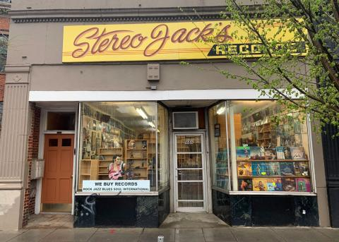 Stereo Jack's, at 1686 Massachusetts Ave., has been targeted for replacement by a seller of recreational marijuana. (Photo: Tom Meek)